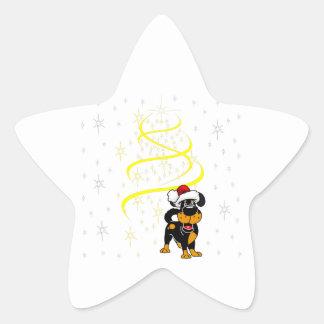 Christmas Pups Star Sticker