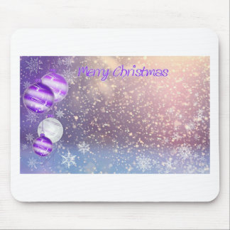 Christmas-Purple Mouse Pad