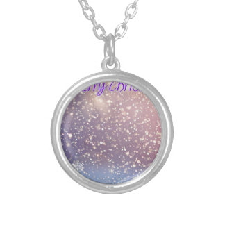 Christmas-Purple Silver Plated Necklace