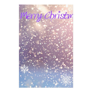 Christmas-Purple Stationery