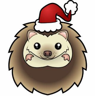 Christmas Pygmy Hedgehog Ornament Photo Sculpture Ornament