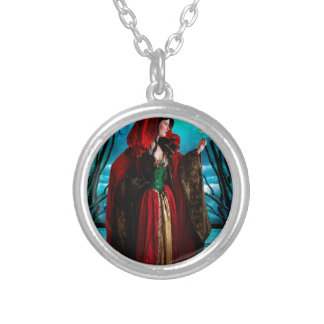 CHRISTMAS QUEEN SILVER PLATED NECKLACE