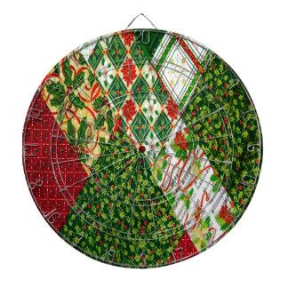 Christmas Quilt Background Dartboard