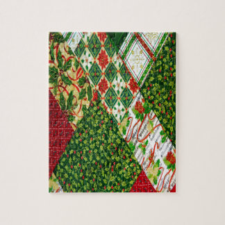 Christmas Quilt Background Jigsaw Puzzle