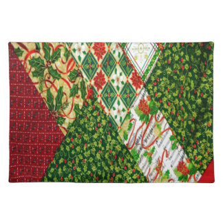 Christmas Quilt Background Placemat