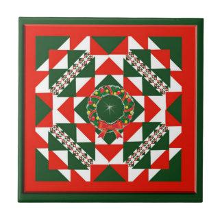 Christmas Quilt Ceramic Tile