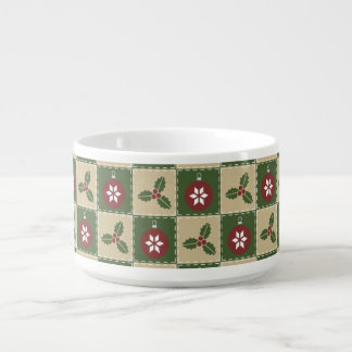 Christmas Quilt Chili Bowl