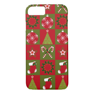 Christmas quilt pattern iPhone 7 case