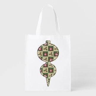 Christmas Quilt Reusable Grocery Bag