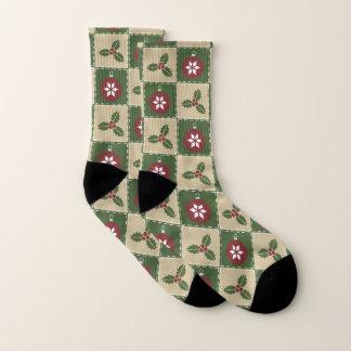Christmas Quilt Socks 1