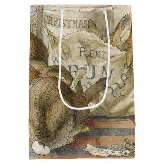 Christmas Rabbits in the Bakery Medium Gift Bag