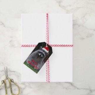 Christmas Raccoon Holiday Gift Tags