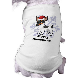 Christmas Rat Terrier / Toy Fox Terrier Doggie T Shirt