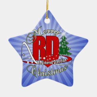 CHRISTMAS RD REGISTERED DIETITIAN CERAMIC STAR ORNAMENT