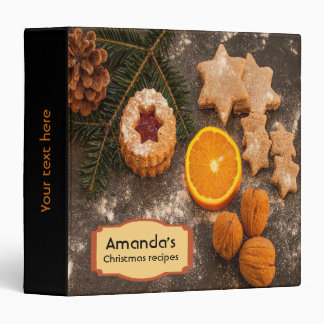Christmas recipes cookbook binder