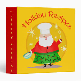 Christmas Recipes Scrapbook Photo Binder