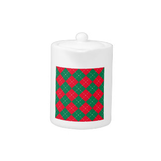 Christmas Red and Green Argyle Pattern