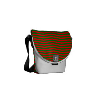 Christmas Red and Green Chevron Zig Zag Stripes Commuter Bags