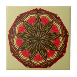 Christmas Red And Green Mandala Tile