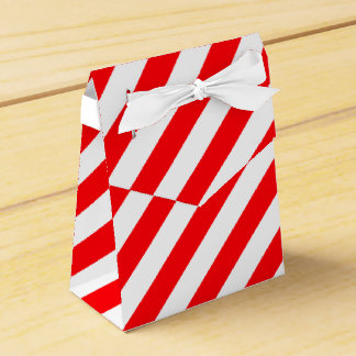 Christmas Red and White Candy Cane Stripes Favor Box