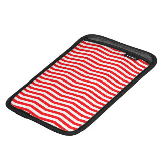 Christmas Red and White Chevron Stripes iPad Mini Sleeve