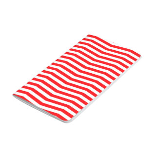 Christmas Red and White Chevron Stripes Journal