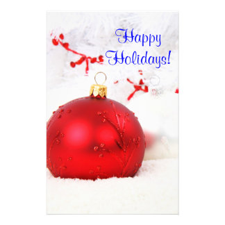 Christmas Red And White Happy Holidays VI Flyer