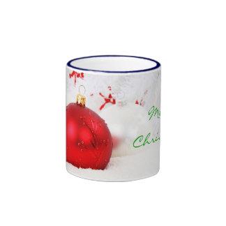 Christmas Red And White Merry Christmas I Coffee Mug