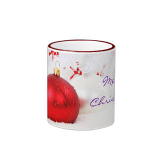 Christmas Red And White Merry Christmas I Coffee Mugs