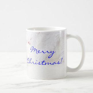 Christmas Red And White Merry Christmas II Classic White Coffee Mug