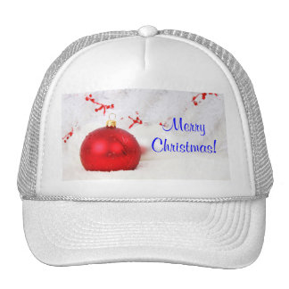 Christmas Red And White Merry Christmas II Trucker Hat