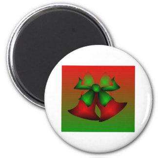 Christmas Red Bells Fridge Magnets