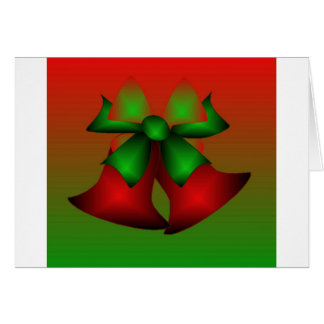 Christmas Red Bells Greeting Card