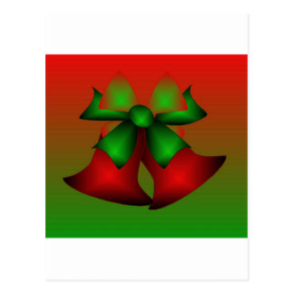 Christmas Red Bells Postcard
