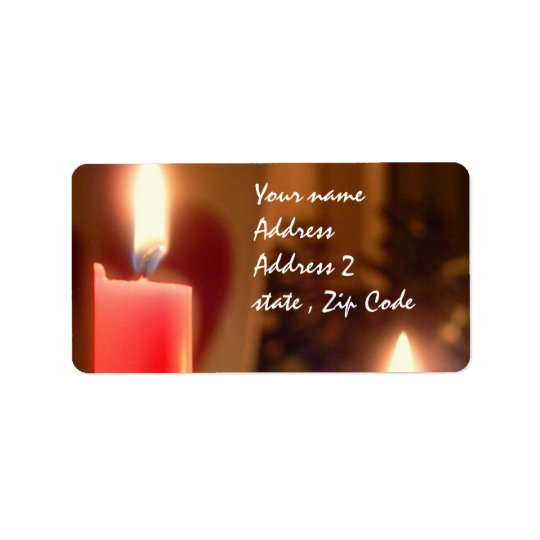 Christmas Red candles Label