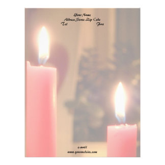 Christmas Red candles Letterhead