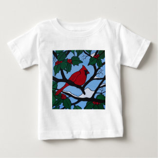 Christmas Red Cardinal Baby T-Shirt