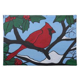 Christmas Red Cardinal Placemat
