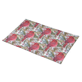 CHRISTMAS RED CARDINAL PLACEMAT