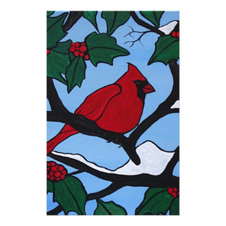 Christmas Red Cardinal Stationery