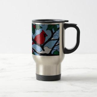 Christmas Red Cardinal Travel Mug