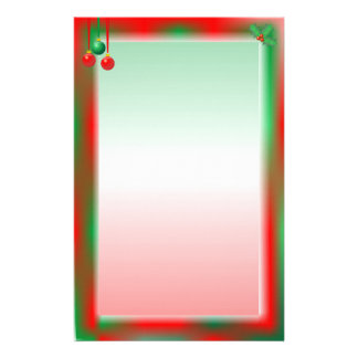 Christmas Red/Green Border Stationery