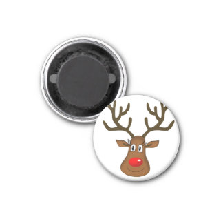Christmas Red Nose Reindeer. Magnet