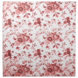 Christmas Red Shabby Toile Napkin