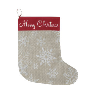 Christmas Red Snowflake Stocking