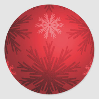Christmas Red Snowflakes stickers