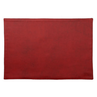 Christmas Red Solid Holiday Color Background Trend Place Mat