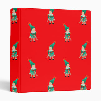 Christmas Red Toddler Children Elves Pattern Binders