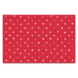 Christmas Red White Stars Whimsical Holiday Tissue Paper