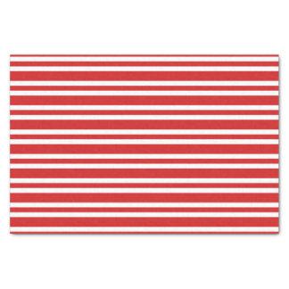 Christmas red white stripes pattern tissue paper